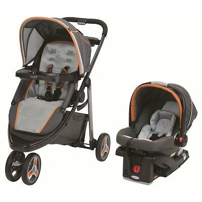 Graco Modes Sport Click Connect Travel System, Tangerine NEW  FREE SHIPPING