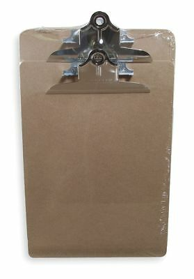 Saunders Letter-Size Clipboard with Clamp Clip, Hardboard, Light Brown 05724