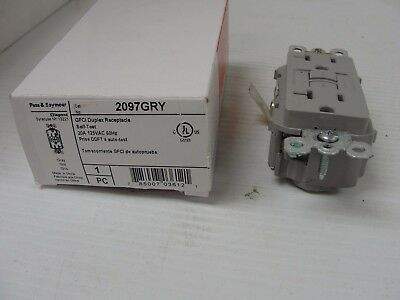 Pass & Seymour 2097-GRY GFCI Duplex Receptacle 20A 125V Isolated Ground, Gray.