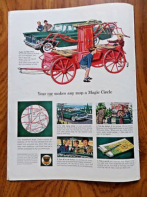 1959 Ethyl Gasoline Ad New Harmony Indiana Fire Engine 1804 Plymouth Wagon ?