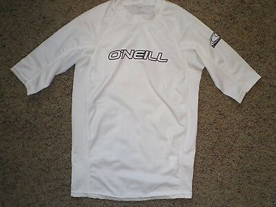 O'NEILL White Rash Guard Swim Shirt Size 14