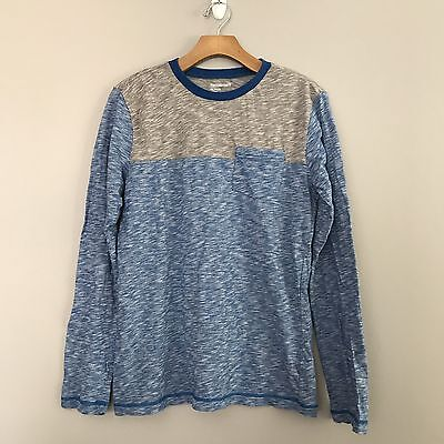 Tucker + Tate Boys Size XXL 18/20 Long Sleeve Shirt Blue Gray Crewneck