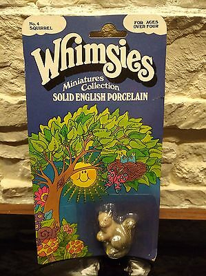 Vintage Wade Whimsie full boxed Blister England No.4 Squirrel