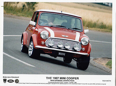Rover Group, The 1997 Mini Cooper With Optional Sports Pack Period Photograph.