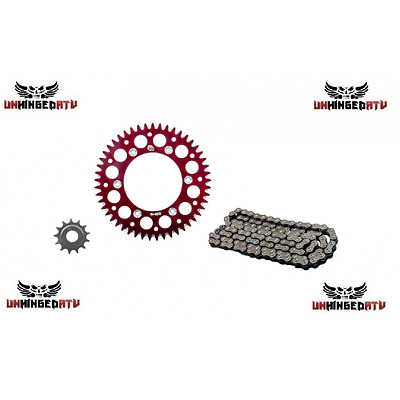Primary Drive Alloy Kit & X-Ring Chain Red Rear Sprocket – Fits: Honda CR500R 19
