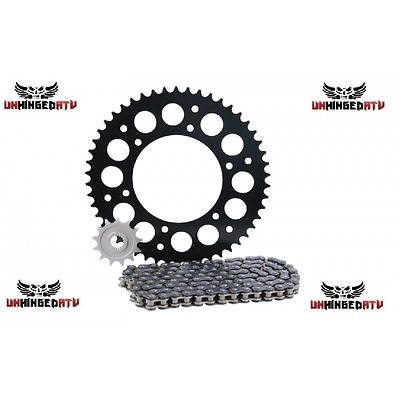 Primary Drive Alloy Kit & X-Ring Chain Black Rear Sprocket – Fits: Honda CRF450R