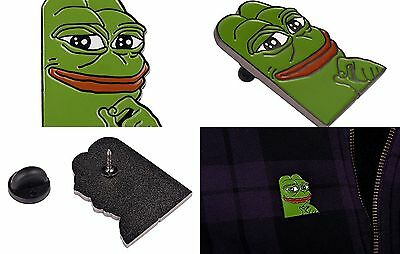 Internet Meme Pin Smug Frog Pepe Lapel Pin Metal And Enamel Collectibles