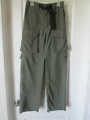 Official Boy Scout of America Switchback Pants/Shorts in Olive Green Youth Med