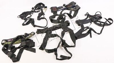 LOT (5x) Climbing Rappelling Seat Harness Black Diamond/Blue Water/ABC MED/LARGE