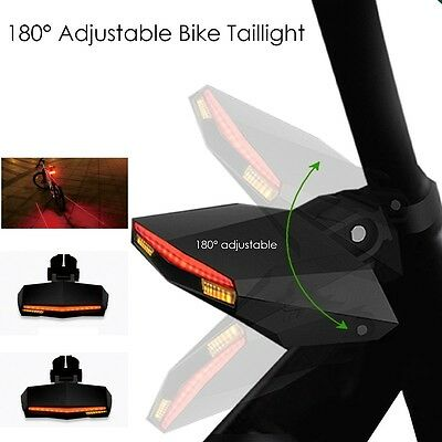 Bicycle Bike Cycling Bicycle Laser Indicator Tail Turn Brake Signal Light&Remote