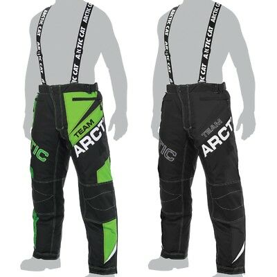 Arctic Cat Men's Team Arctic Insulated Snow Pants Snowmobile Bibs - Green, Black