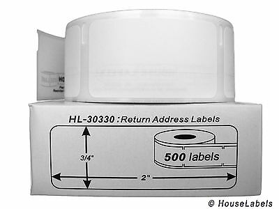 1 Roll of 500 Return Address Labels in Cartons for DYMO® LabelWriters® 30330