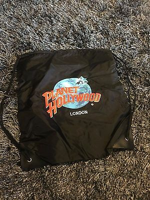 Nice collectible Planet Hollywood London black thin style bag tote New in Bag