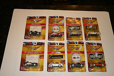Racing Champions Group of Eight 1:64 Scale Cast Metal Corvette Cars