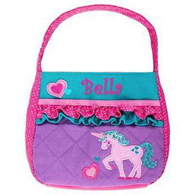 Personalized Stephen Joseph Quilted Purse Unicorn Custom Name Great Gift!