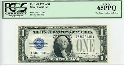 1928-A Fr.1601 $1 United States Silver Certificate - PCGS Gem 65 PPQ