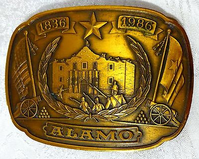 Vintage The Alamo Bronze Belt Buckle by Historical Providence Mint 1986 Texas