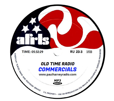 Commercials Old Time Radio (396 Commercials) Old Time Radio Mp3 Cd