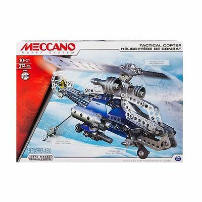 New Meccano Tactical Copter 2-in-1 Set 374 Pieces