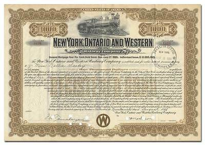 New York, Ontario and Western Railway Company Bond Certificate