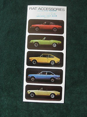 Fiat 850 also 124 Racer Coupe Spider Brochure