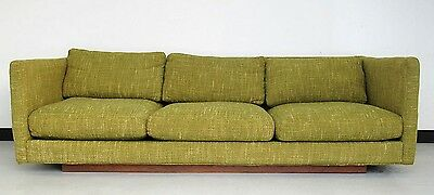 Vintage 1967 floating Thayer Coggin sofa designed by Milo Baughman