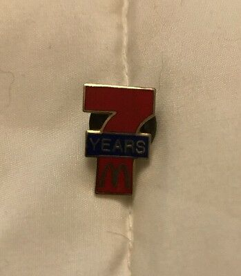 "McDonald's Exclusive Employee ""7 Years of Service"" Manager Team McDonald's Pin"