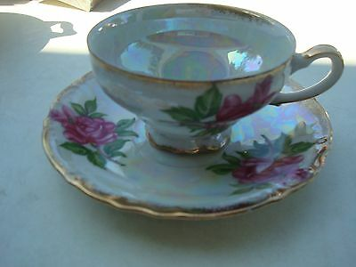 Beautiful Vintage Cup and Saucer, Unmarked