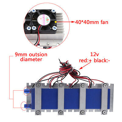 12V 4-Chip TEC1-12706 Thermoelectric Cooler Refrigeration Air Cooling Device CE