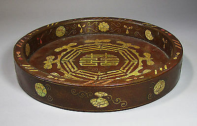 A Very Fine/Rare/Large Korean Mother of Pearl/Shagreen Inlaid Tray-19th C