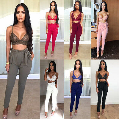 New Ladies Women Summer Casual Culottes High Waist Wide Trousers Casual Pants LL