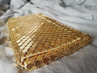 Gold Clutch - Metal Mesh - Perfect Condition Like New