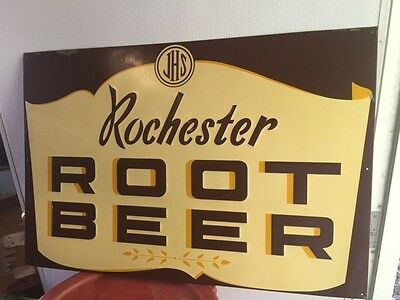 Vintage Rochester Root Beer Embossed sign