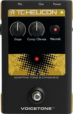 TC Helicon VoiceTone T1 Adaptive Tone & Dynamics Pedal