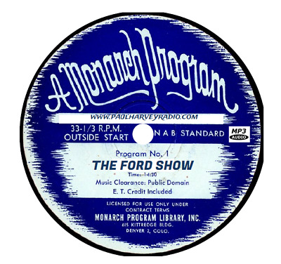 Ford Show (9 Shows) Otr Mp3 Cd