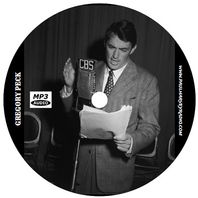 Gregory Peck Collection (23 Shows) Old Time Radio Mp3 Cd