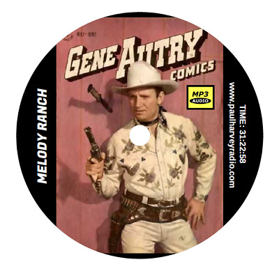 Gene Autry (75 Shows) Old Time Radio Mp3 Cd