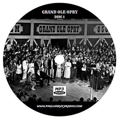 Grand Ole Opry (182 Shows) Old Time Radio Mp3 4 Cd's