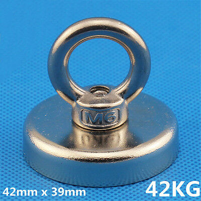 42mm x 39mm 42KG Recovery Magnet Strong Sea Fishing Diving Treasure Hunting UK