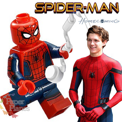 Spiderman Minifigure fits Lego Toy Marvel Homecoming X680