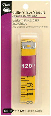 "Dritz Quilter/'s 120 inch Purple Flip Measuring Tape 5//8/"" wide Always rdy 2 use"