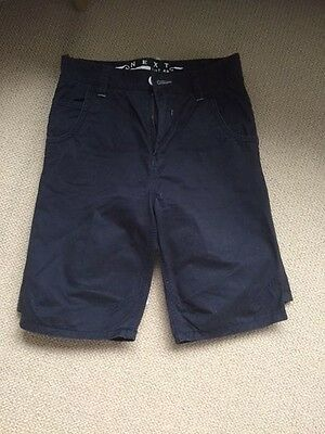 Next boys Navy shorts aged 14
