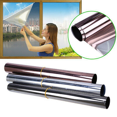 Safety One Way Mirror Window Film Clear Glass Protection UV Rejection 1-3meter