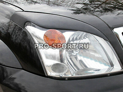 Toyota LC Prado 120 2003-2009 paintable headlights eyebrows, gloss, 2 pcs.