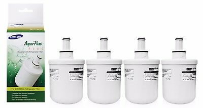 4 Genuine HAFIN1/EXP DA29-00003F Aqua Pure Water Filter for Samsung Refrigerator