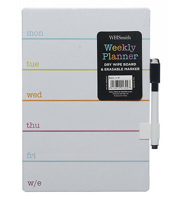 WHSmith Weekly Planner Mini Magnetic Dry Wipe Board & Pen h23xw16cm