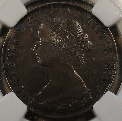 Great Britain 1861 4 Berries Half Penny NGC XF-40