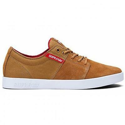 Supra Mens Stacks II Lace Up Active Gym Lo Top Brown Red White Trainer