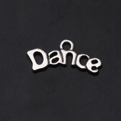 20X9mm Making DANCE Tibetan Silver Charms Pendants Crafts Jewelry Findings DIY