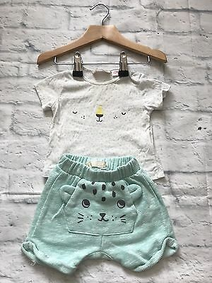 Baby Girls Clothes 0-3 Months - Pretty Zara Top & Shorts Outfit -